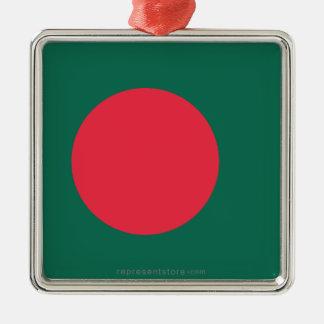 Bandera llana de Bangladesh Ornamento Para Arbol De Navidad