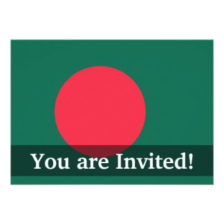Bandera llana de Bangladesh Invitacion Personal