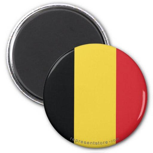 Bandera llana de Bélgica Imán De Nevera