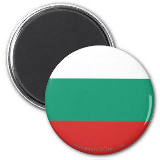 Bandera llana de Bulgaria Imán Redondo 5 Cm