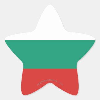 Bandera llana de Bulgaria Pegatina En Forma De Estrella
