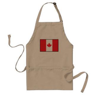 Bandera llana de Canadá Delantal