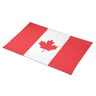 Bandera llana de Canadá Mantel
