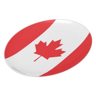 Bandera llana de Canadá Platos