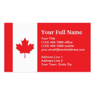 Bandera llana de Canadá Tarjetas De Visita
