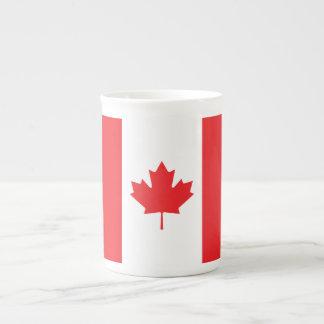 Bandera llana de Canadá Taza De Porcelana