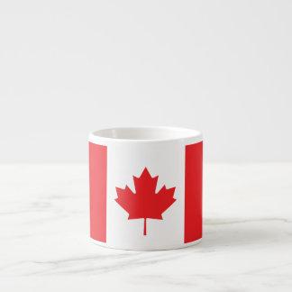 Bandera llana de Canadá Taza Espresso