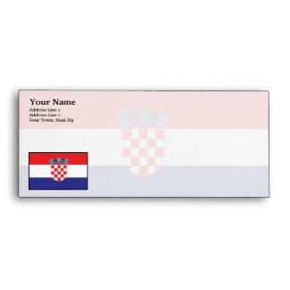 Bandera llana de Croacia Sobre