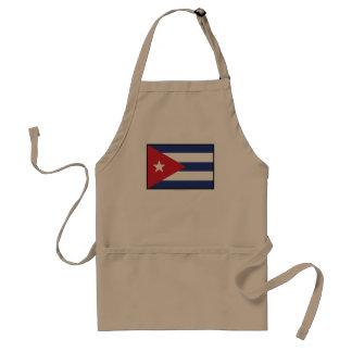 Bandera llana de Cuba Delantales