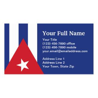Bandera llana de Cuba Tarjetas De Visita