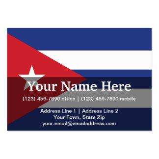 Bandera llana de Cuba Tarjetas De Visita Grandes