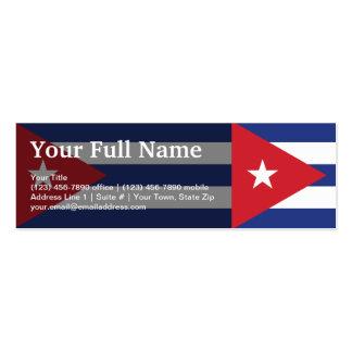 Bandera llana de Cuba Tarjetas De Visita Mini