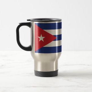 Bandera llana de Cuba Taza De Viaje