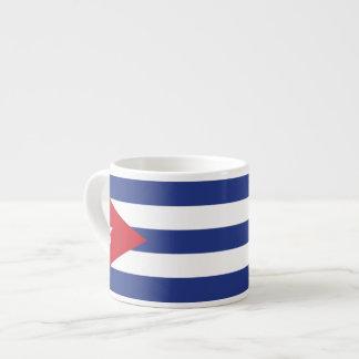 Bandera llana de Cuba Taza Espresso