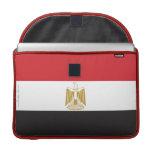 Bandera llana de Egipto Funda Para Macbooks