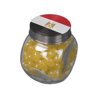 Bandera llana de Egipto Jarrones Cristal