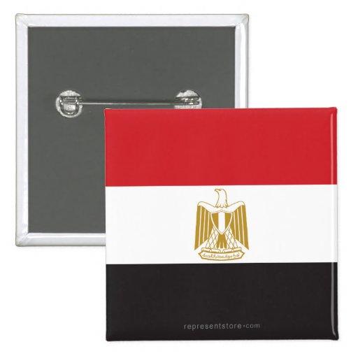 Bandera llana de Egipto Pins