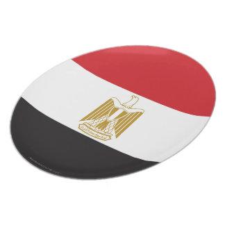 Bandera llana de Egipto Platos Para Fiestas