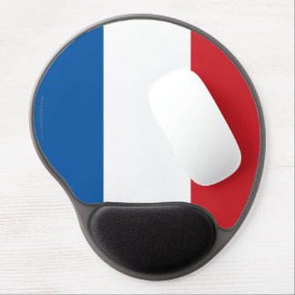 Bandera llana de Francia Alfombrillas De Raton Con Gel