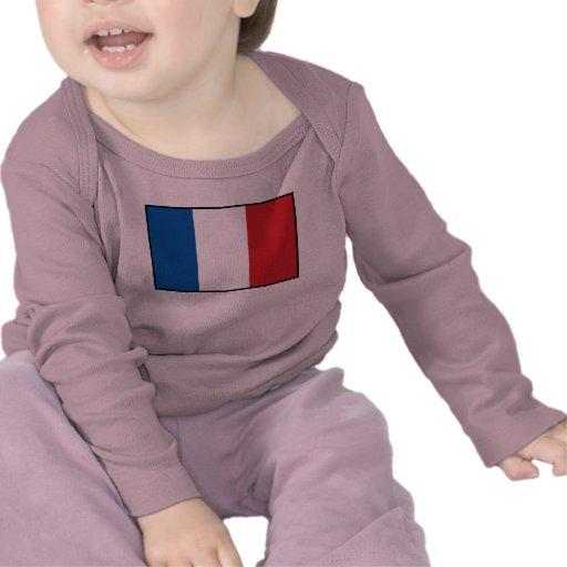 Bandera llana de Francia Camiseta