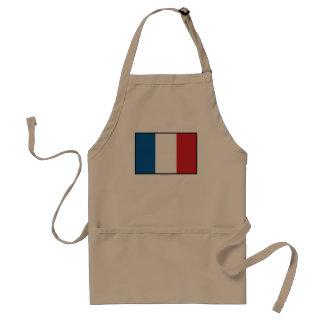 Bandera llana de Francia Delantal