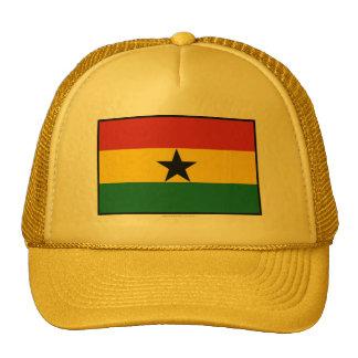 Bandera llana de Ghana Gorras
