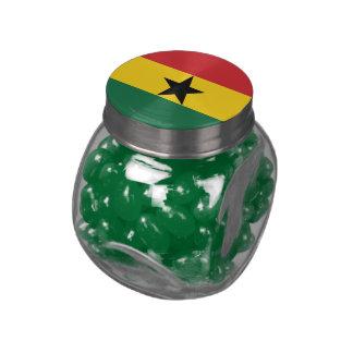 Bandera llana de Ghana Jarras De Cristal Jelly Bely