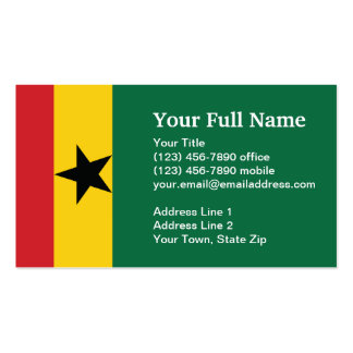 Bandera llana de Ghana Tarjeta De Negocio