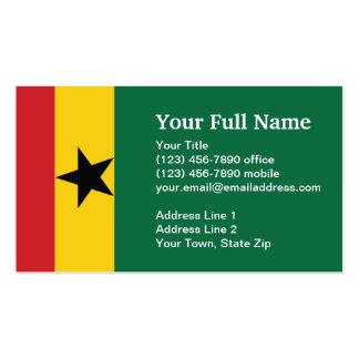 Bandera llana de Ghana Tarjetas De Visita