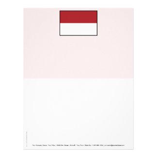 Bandera llana de Indonesia Plantillas De Membrete