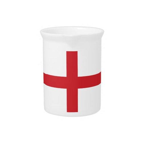 Bandera llana de Inglaterra Jarron