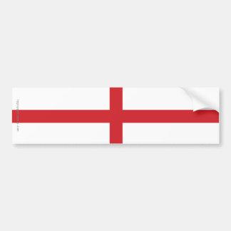 Bandera llana de Inglaterra Pegatina De Parachoque