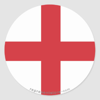 Bandera llana de Inglaterra Pegatina Redonda