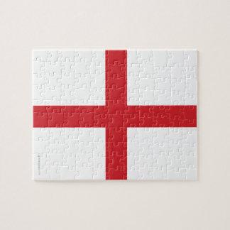 Bandera llana de Inglaterra Rompecabezas Con Fotos