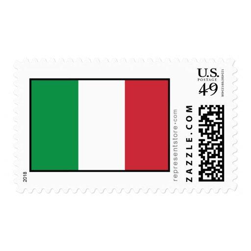 Bandera llana de Italia Franqueo