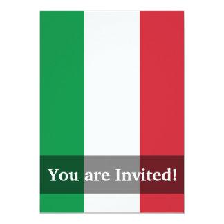 """Bandera llana de Italia Invitación 5"""" X 7"""""""