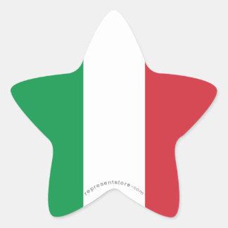 Bandera llana de Italia Calcomanías Forma De Estrella