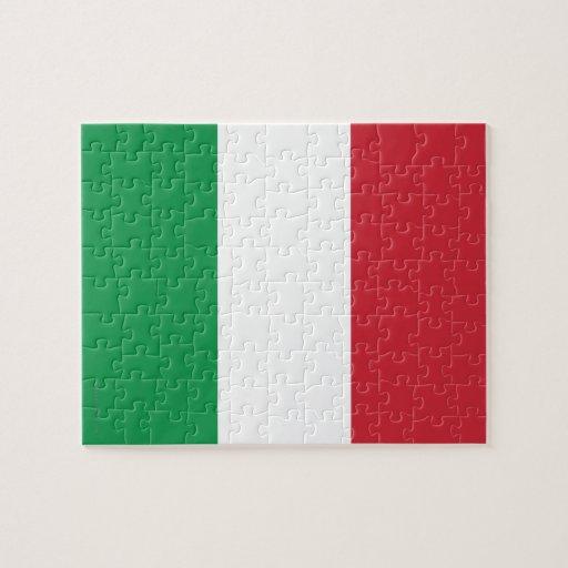 Bandera llana de Italia Rompecabeza