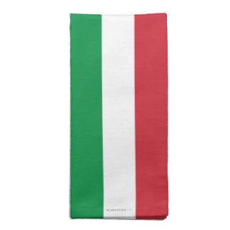 Bandera llana de Italia Servilleta Imprimida