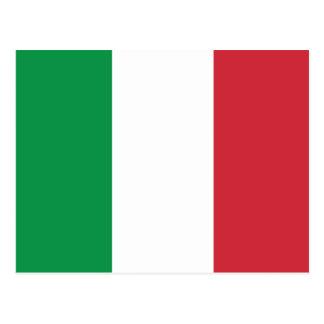 Bandera llana de Italia Tarjeta Postal