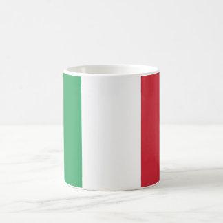 Bandera llana de Italia Taza