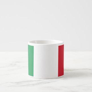 Bandera llana de Italia Taza Espresso