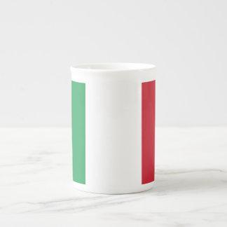 Bandera llana de Italia Tazas De Porcelana