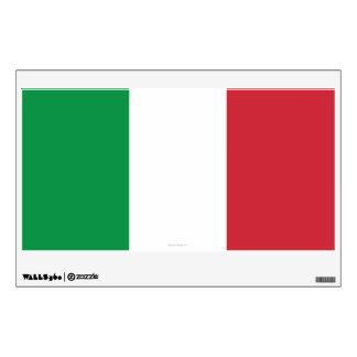 Bandera llana de Italia Vinilo Decorativo