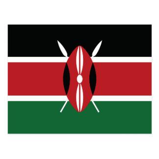 Bandera llana de Kenia Tarjeta Postal