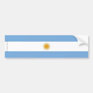 Bandera llana de la Argentina Pegatina Para Auto