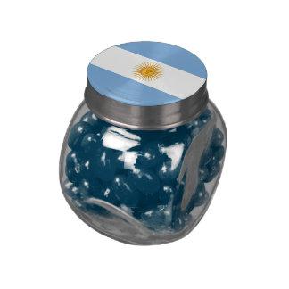 Bandera llana de la Argentina Jarrones De Cristal