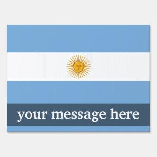 Bandera llana de la Argentina Señales