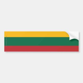 Bandera llana de Lituania Pegatina De Parachoque