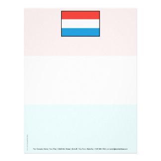 Bandera llana de Luxemburgo Membrete Personalizado